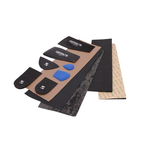 The image of our orthotics range of prefabricated orthotics, additions and covering materialsadditions: a