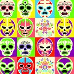The image of U-UE028 Multi-coloured skulls